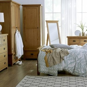 Light Rustic Oak Bedroom Range