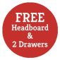 FREE Headboard & Drawers