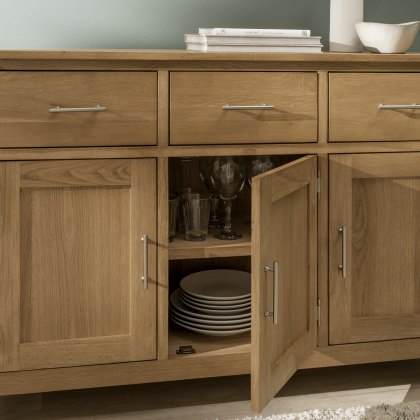 Oak City - Nebraska Modern Oak 2 Door 2 Drawer Sideboard