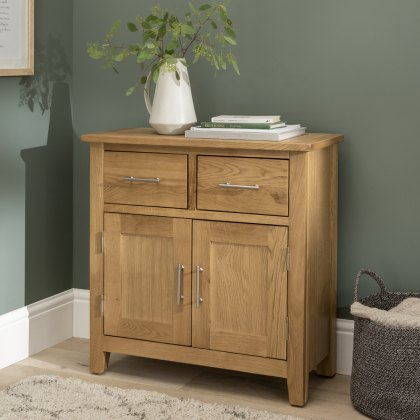 Oak City - Nebraska Modern Oak Mini Sideboard