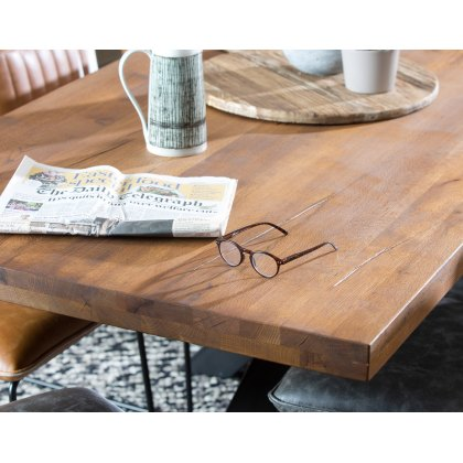 Soho Solid Oak 220cm Haverstock X-Leg Dining Table
