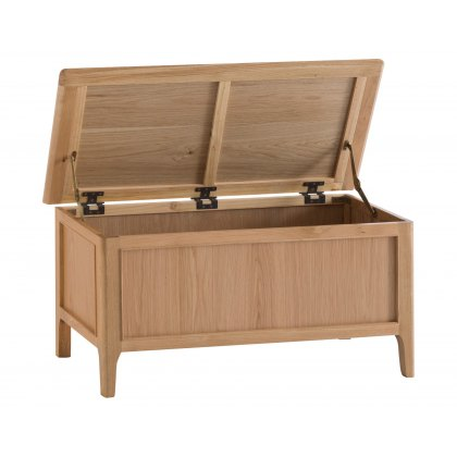 Oxford Oak Blanket Box