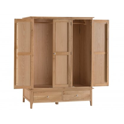 Oxford Oak Large 3 Door Wardrobe