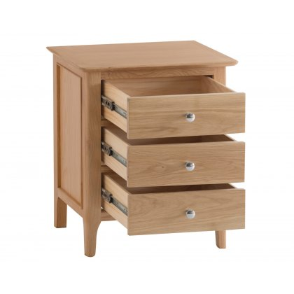 Oxford Oak Extra Large Bedside Cabinet
