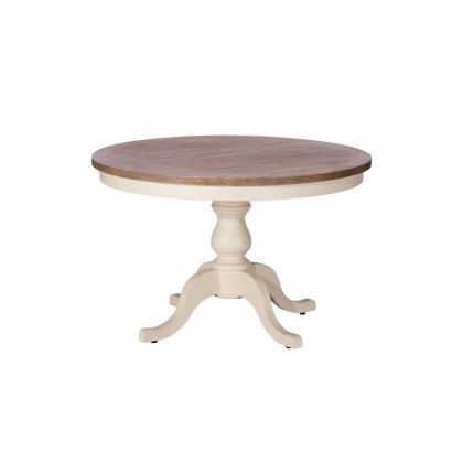 Cranford Reclaimed Wood 120cm Round Dining Table