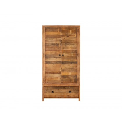 Grant Reclaimed Wood Double Wardrobe