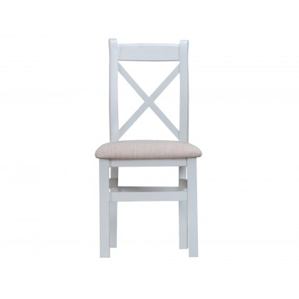 St Ives Grey Painted Crossback chair fabric