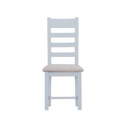 St Ives Grey Painted Ladderback chair fabric