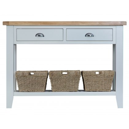 St Ives Grey Painted Large Console Table