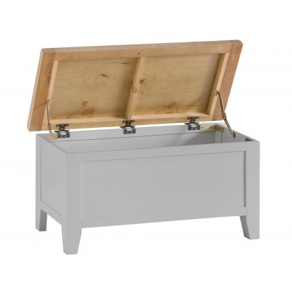St Ives Grey Painted Blanket Box