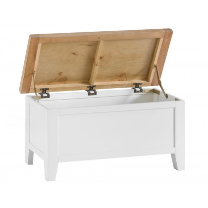 St Ives White Painted Blanket Box