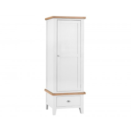 St Ives White Painted Single Wardrobe