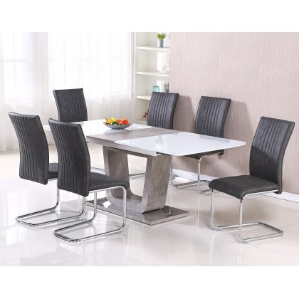 Casablanca Extending Dining Table Set and 6 Chairs