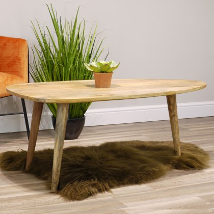 Oak City - Aztec Solid Mango Wood Abstract Coffee Table