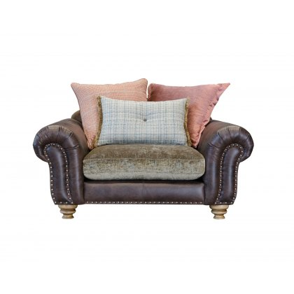 Alexander & James Bloomsbury Pillow Back Snuggler Chair
