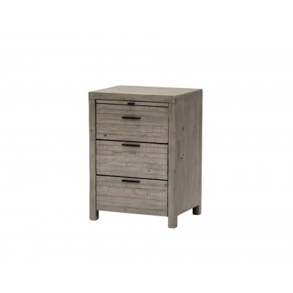 Tuscan Spring Reclaimed Wood 3 Drawer Bedside Table