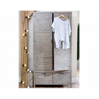 Tuscan Spring Reclaimed Wood Double Wardrobe