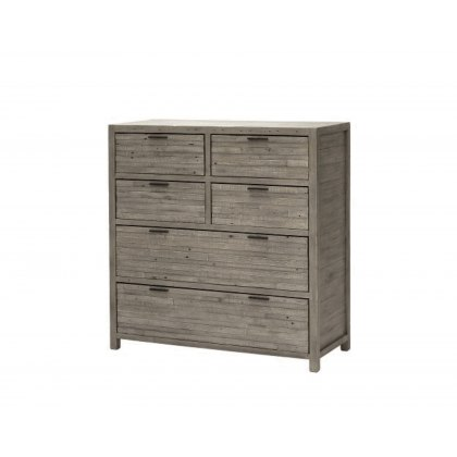 Tuscan Spring Reclaimed Wood 6 Drawer Chest of Drawers