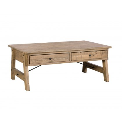 Valetta Reclaimed Wood 2 Drawer Coffee Table