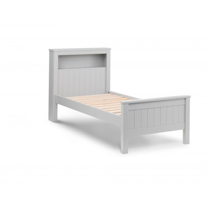 Madison 90cm Bookcase Bed in Dove Grey