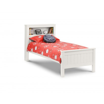 Madison 90cm Bookcase Bed in Surf White