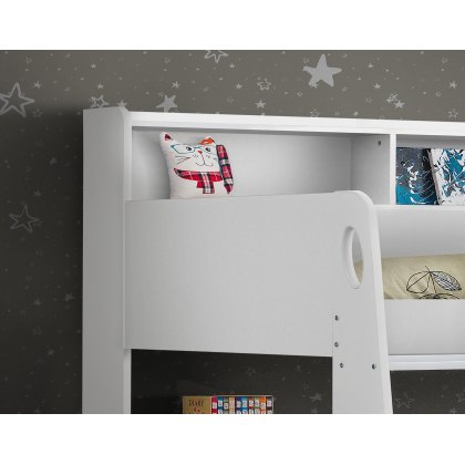 Omega Bunk Bed in All White Finish
