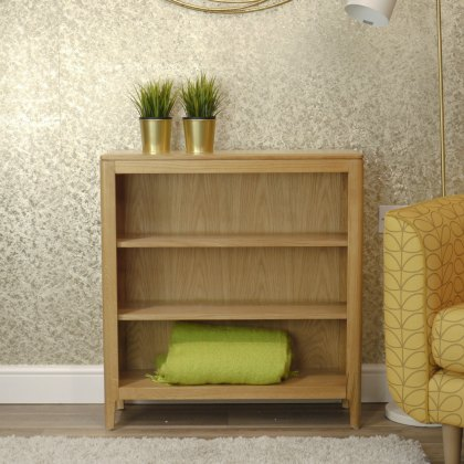 Oak City - Stockholm Oak Low Bookcase