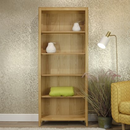 Oak City - Stockholm Oak Tall Bookcase