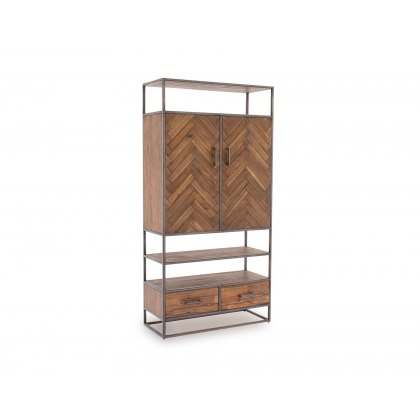 Vermont Display Cabinet in Light Brown