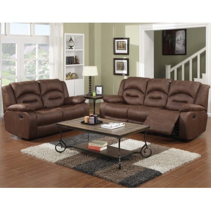 Nova 3 Seater & 2 Seater Reclining Sofa Package in Brown
