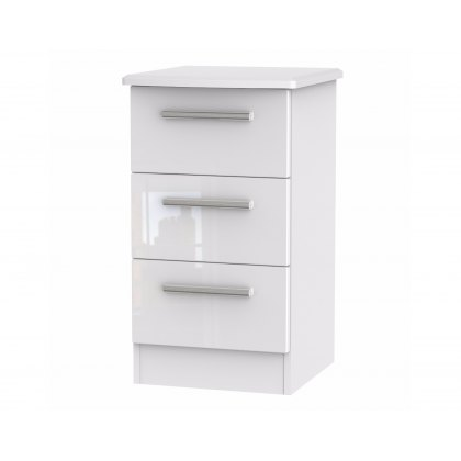 Belgravia High Gloss 3 Drawer Bedside Table