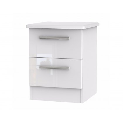 Belgravia High Gloss 2 Drawer Bedside Table
