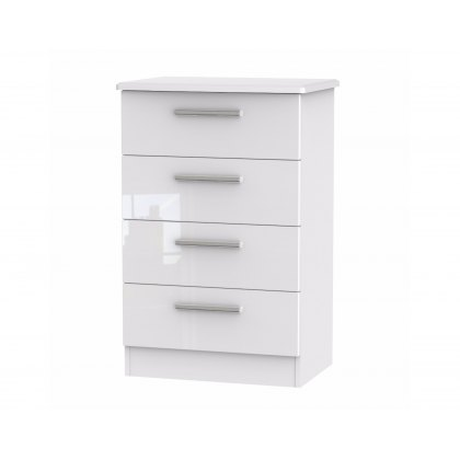 Belgravia High Gloss 4 Drawer Midi Chest of Drawers