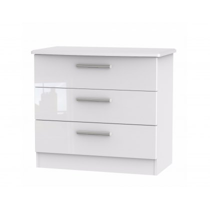 Belgravia High Gloss 3 Drawer Chest of Drawers