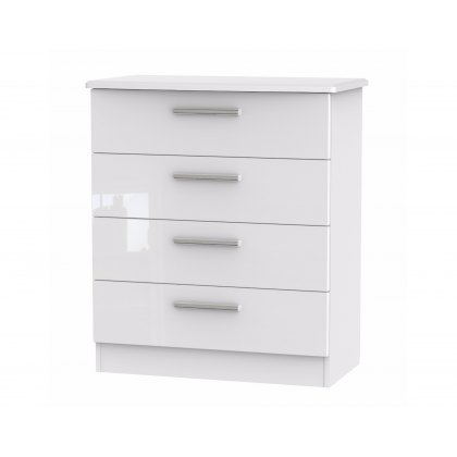 Belgravia High Gloss 4 Drawer Chest of Drawers