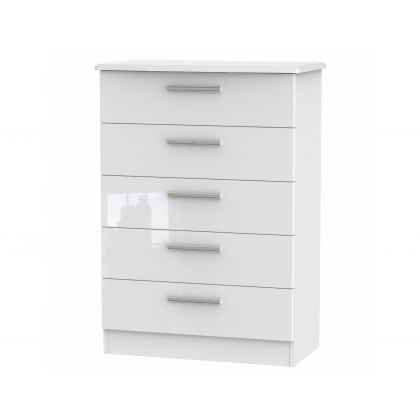 Belgravia High Gloss 5 Drawer Chest of Drawers
