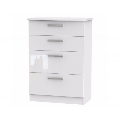 Belgravia High Gloss 4 Drawer Deep Chest of Drawers
