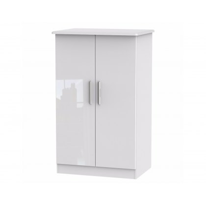 "Belgravia High Gloss 2'6"" Plain Midi Wardrobe"