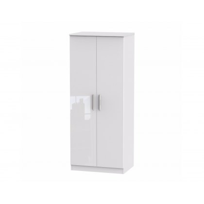 "Belgravia High Gloss 2'6"" Plain Wardrobe"