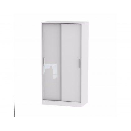 Belgravia High Gloss Sliding Wardrobe (100cm wide)