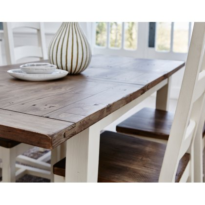 Cranford Reclaimed Wood 120cm-160cm Extending Dining Table Set & 4 Wooden Dining Chair