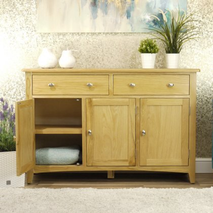 Oak City - Oakland Modern Oak 3 Door Sideboard