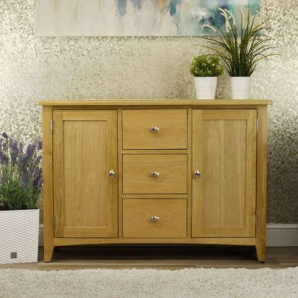 Oak City - Oakland Modern Oak Large Sideboard