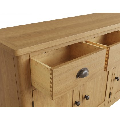 Oak City - Milan Oak 3 Door Sideboard