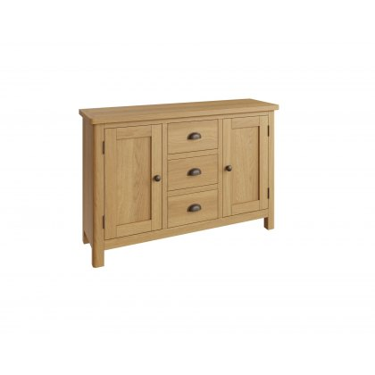Oak City - Milan Oak Large Sideboard