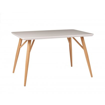 Contro White High Gloss Compact Rectangular Dining Table