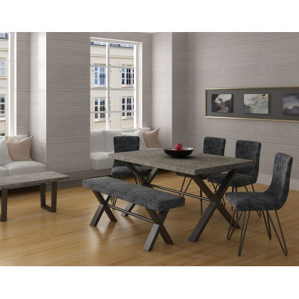 Forge Stone Effect 190 Dining Set/Bench