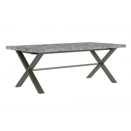 Forge Stone Effect 150 Dining Table Stone Effect/Bench