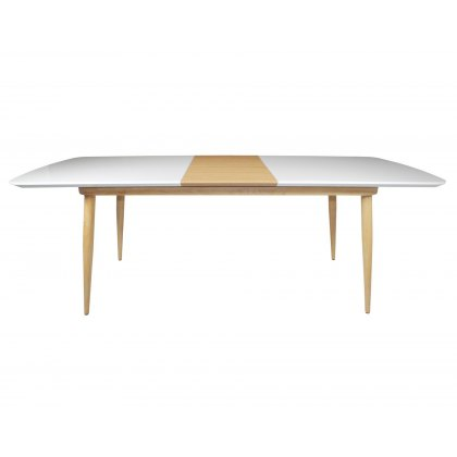 Princeton High Gloss White Large Extending Dining Table