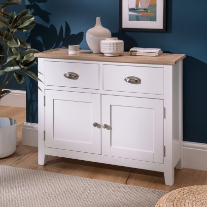 Oak City - Nebraska Oak White Small Sideboard